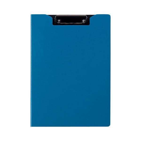 (まとめ) TANOSEE クリップファイル A4タテ ブルー 1枚 【×30セット】