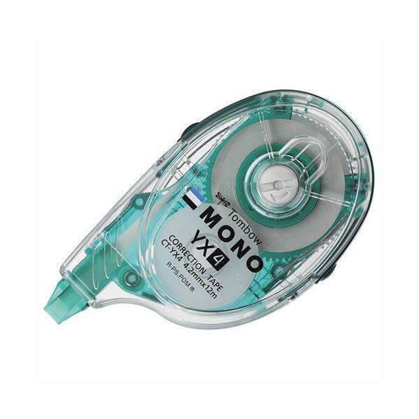 (まとめ) トンボ鉛筆 修正テープ モノYX4 本体 4.2mm幅×12m 緑 CT-YX4 1個 【×30セット】