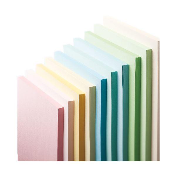(まとめ) 長門屋商店 Color Paper A3 中厚口 水 ナ-1210 1冊(100枚) 【×10セット】