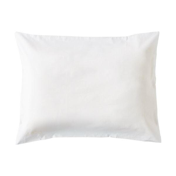 (まとめ)枕カバー 封筒型 50×90cmホワイト 1セット(3枚)【×5セット】