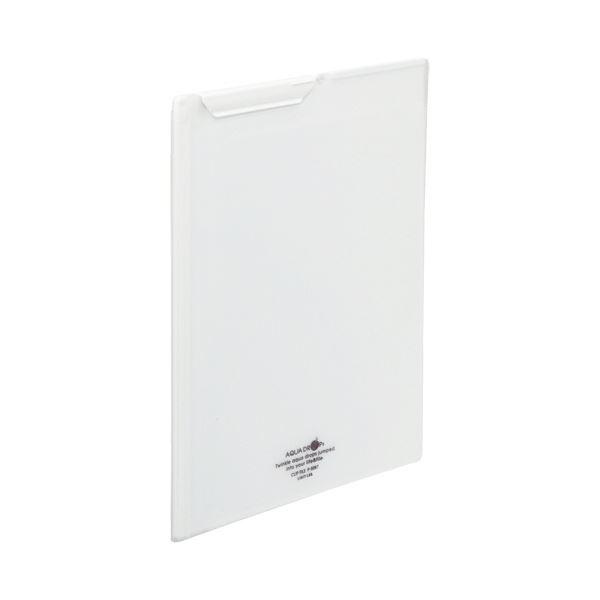 (まとめ) リヒトラブ AQUA DROPsクリップファイル A4 乳白 F-5067-1 1枚 【×30セット】