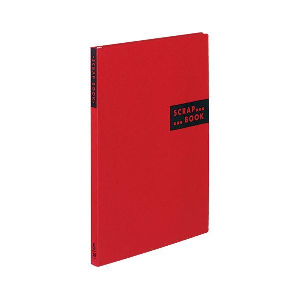 (まとめ) コクヨ スクラップブックS(スパイラルとじ・固定式) A4 中紙40枚 背幅20mm 赤 ラ-410R 1冊 【×30セット】