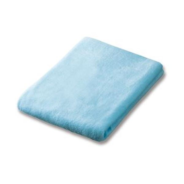 (まとめ)オカザキ シャーリングバスタオル ブルー 1枚【×20セット】