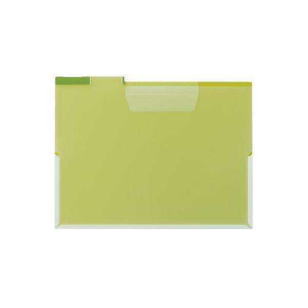 (まとめ)キングジム FV フォルダー(透明)A4E FV833T 黄色 【×100セット】