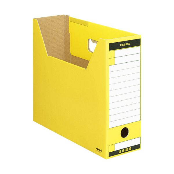 (まとめ) コクヨファイルボックス-FS(Tタイプ) A4ヨコ 背幅102mm 黄 A4-LFT-Y 1冊 【×30セット】