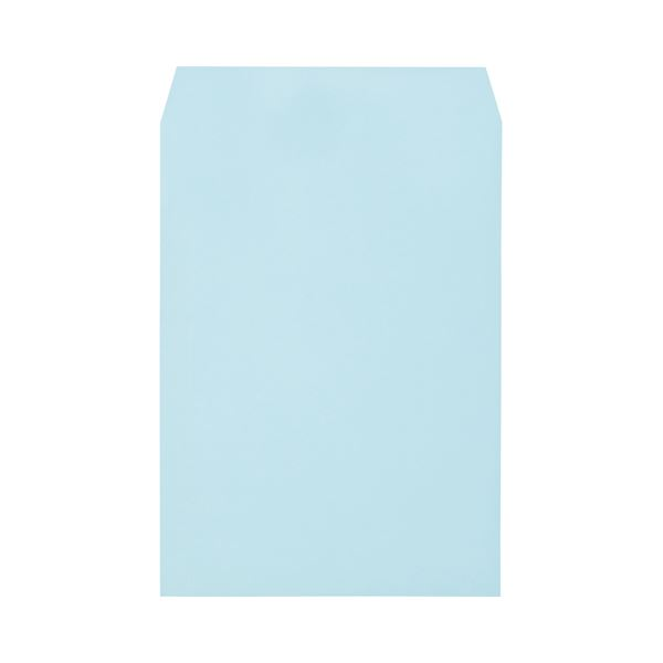 (まとめ)キングコーポレーション ソフトカラー封筒角2 100g/m2 ブルー 業務用パック 160203 1箱(500枚)【×3セット】
