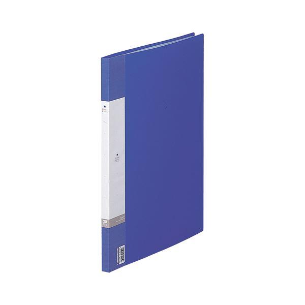 (まとめ) リヒトラブ リクエスト クリヤーブック(クリアブック) B4タテ 20ポケット 背幅16mm 青 G3211-8 1冊 【×30セット】