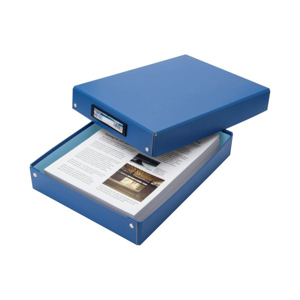 (まとめ) TANOSEE デスクトレー A4 青 1個 【×30セット】