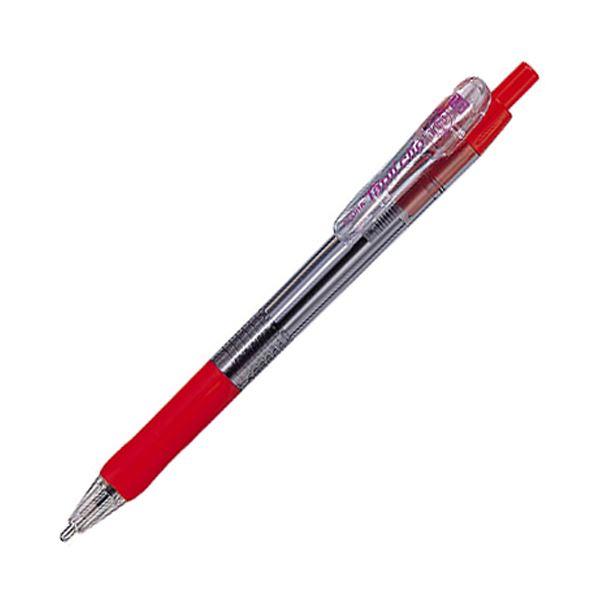 (まとめ) ゼブラ 油性ボールペン タプリクリップ 1.6mm 赤 BNU5-R 1本 【×100セット】