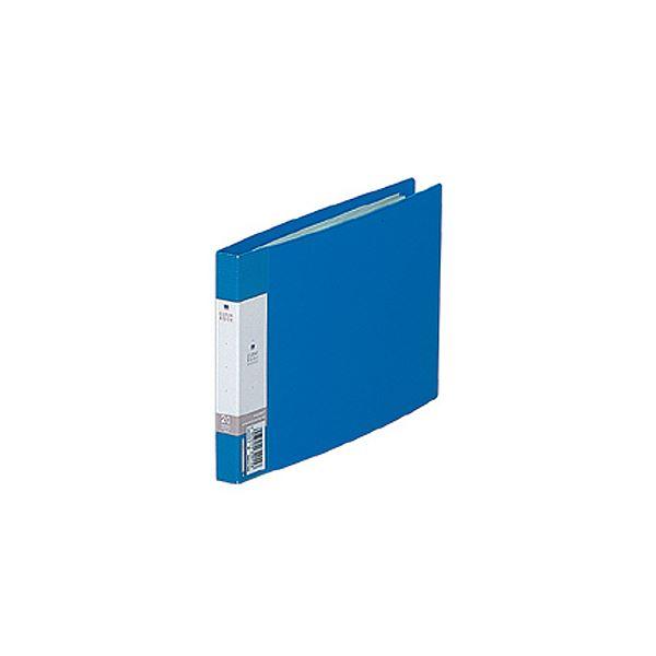 (まとめ) リヒトラブ リクエスト クリヤーブックB6ヨコ 20ポケット 背幅16mm 青 G3225-8 1冊 【×30セット】