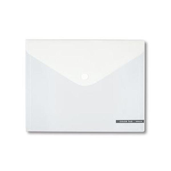 (まとめ)コクヨ ホックケース(カラータグ)Bi-COLOR L(長3封筒・パンフレット)透明 CTクケ-C5330T 1枚【×50セット】