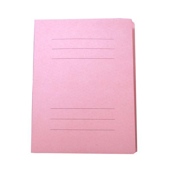 (まとめ) ナカバヤシ フラットファイルJ A4タテ150枚収容 背幅18mm ピンク フF-J80P 1セット(10冊) 【×30セット】