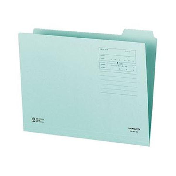 (まとめ)コクヨ 1/4カットフォルダー(カラー)A4 第4見出し 青 A4-4F-4B 1セット(10冊)【×20セット】