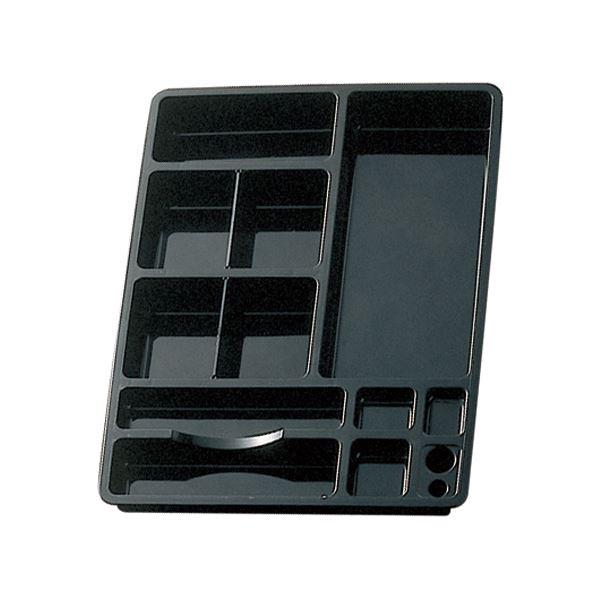 (まとめ) ライオン事務器 デスクイントレーW320×D425×H48mm ブラック CS-58 1個 【×10セット】