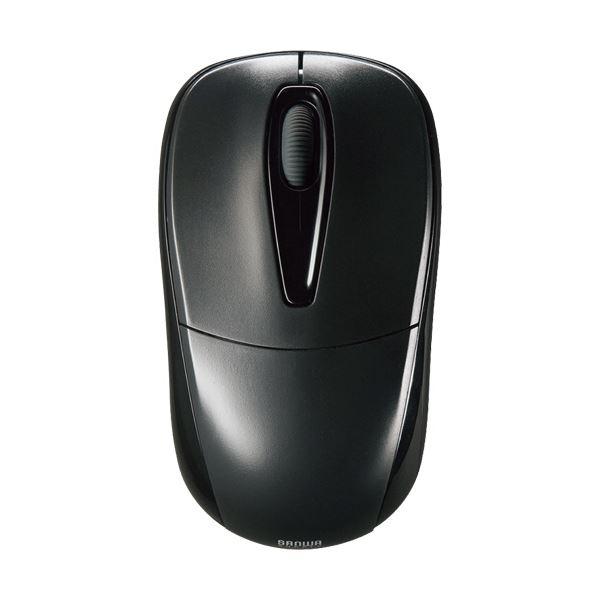 (まとめ) サンワサプライ 静音ワイヤレスマウス 2ボタン ブラック MA-WH123BK 1個 【×5セット】