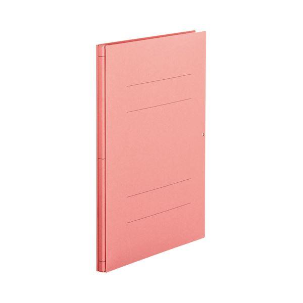 (まとめ) TANOSEE 背幅伸縮フラットファイル A4タテ 1000枚収容 背幅13~113mm ピンク 1セット(10冊) 【×5セット】