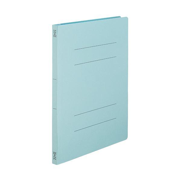 (まとめ) TANOSEEフラットファイルSE(スーパーエコノミー) A4タテ 150枚収容 背幅18mm ブルー1セット(100冊:10冊×10パック) 【×10セット】