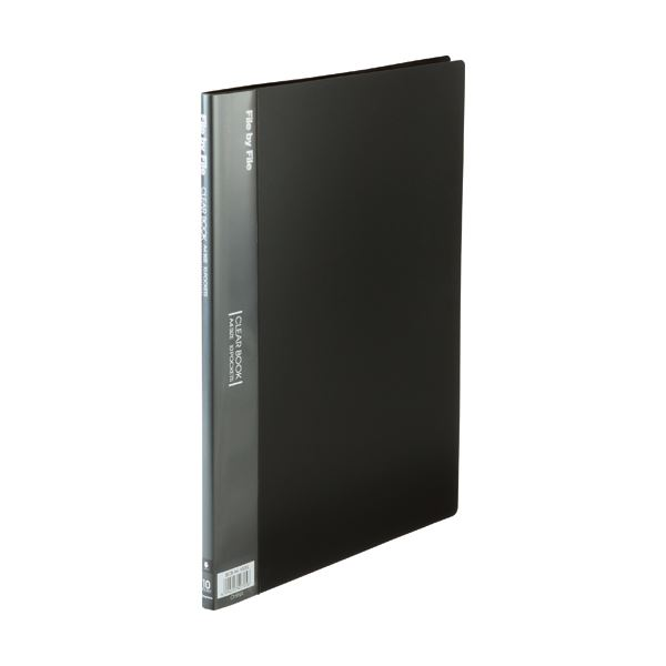 (まとめ) ビュートン クリヤーブック(クリアブック) A4タテ 10ポケット 背幅9mm ダークグレー BCB-A4-10DG 1冊 【×50セット】