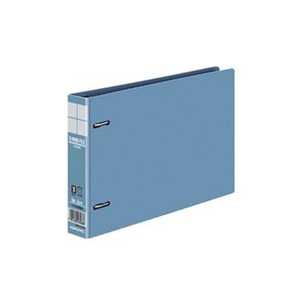 (まとめ)コクヨ DリングファイルE型再生PP表紙 B6ヨコ 2穴 200枚収容 背幅34mm 青 フ-FD428NB 1セット(4冊)【×10セット】