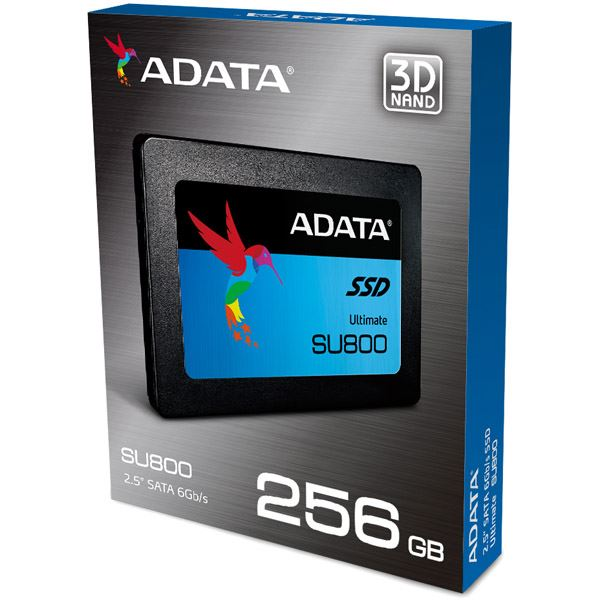 Ultimate SU800 SSD 2.5inch SATA 256GB 3D TLC採用マウンタ付き ASU800SS-256GT-C