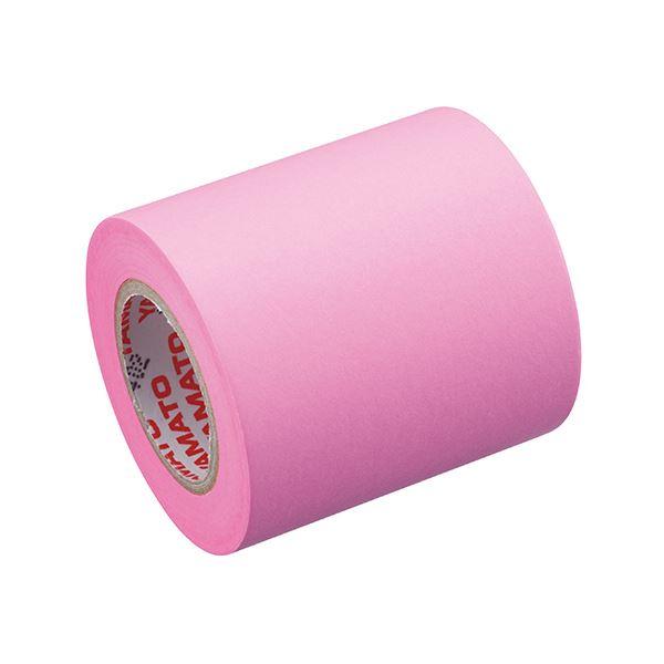 (まとめ) ヤマト メモック ロールテープ 蛍光紙詰替用 50mm幅 ローズ RK-50H-RO 1巻 【×30セット】