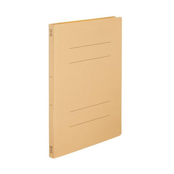 (まとめ) TANOSEEフラットファイルSE(スーパーエコノミー) A4タテ 150枚収容 背幅18mm イエロー1セット(100冊:10冊×10パック) 【×10セット】
