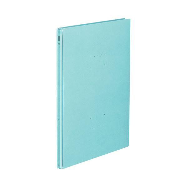 (まとめ) コクヨ ガバットファイル(NEOS)A4タテ 1000枚収容 背幅14~114mm ターコイズブルー フ-NE90B 1冊 【×30セット】