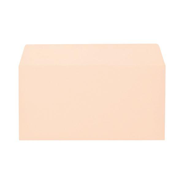 (まとめ) キングコーポレーション ソフトカラー封筒 のり付 洋0(洋長3) 100g/m2 ピンク 162022 1パック(100枚) 【×10セット】