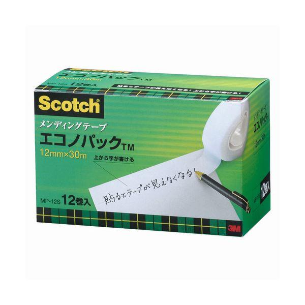 (まとめ) 3M スコッチ メンディングテープ エコノパック 小巻 12mm×30m 紙箱入 業務用パック MP-12S 1パック(12巻) 【×5セット】