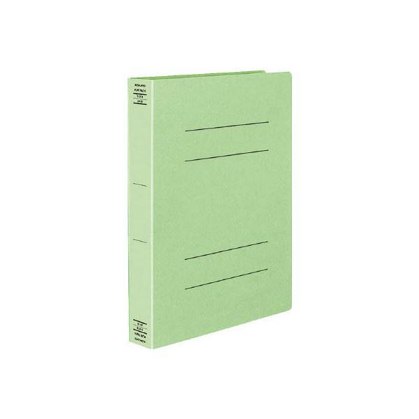 (まとめ) コクヨ フラットファイルX(スーパーワイド) A4タテ 400枚収容 背幅43mm 緑 フ-X10G 1セット(10冊) 【×10セット】