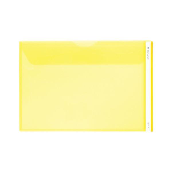 (まとめ) キングジム Mホルダー 黄 [縦216×横318×マチ10mm]【×50セット】