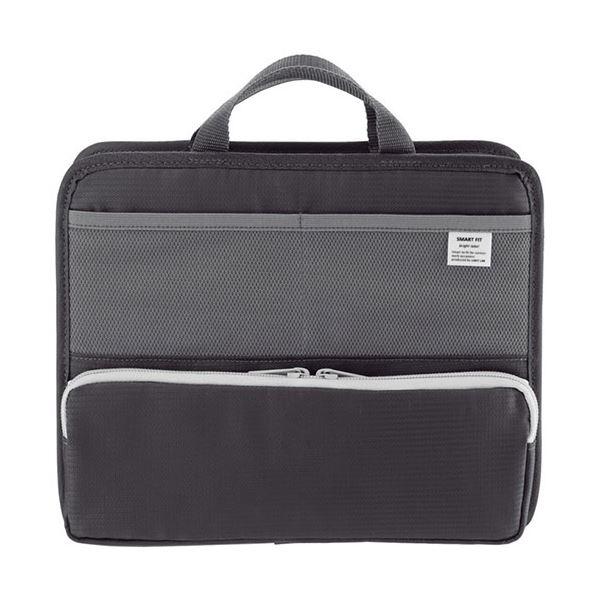 (まとめ) リヒトラブ SMART FITbright label スタンドポケット (ヨコ型) A5 ブラック A-7663-24 1個 【×10セット】