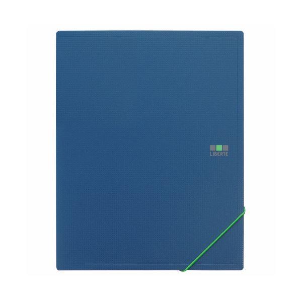 (まとめ) ライオン事務器ホルダーブック(リベルテ) A5タテ(見開きA4) 8ポケット グリーン HB-302L 1冊 【×30セット】