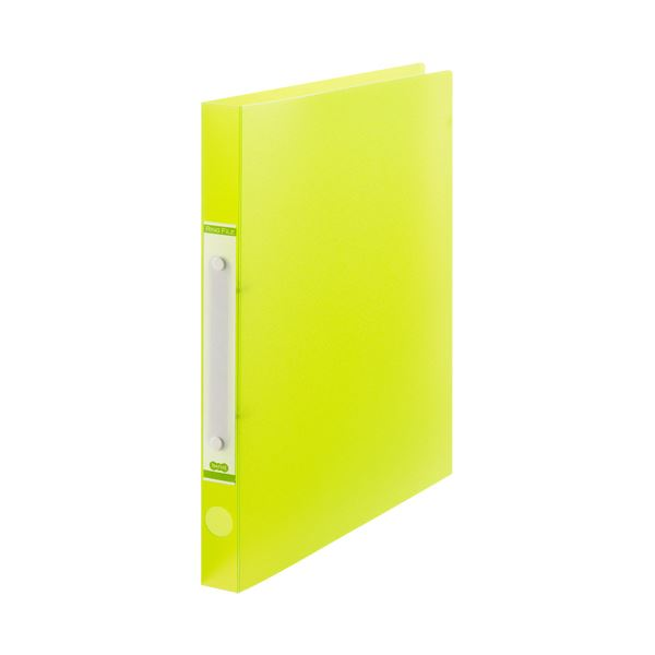 (まとめ) TANOSEEOリングファイル(半透明表紙) A4タテ リング内径20mm グリーン 1冊 【×50セット】