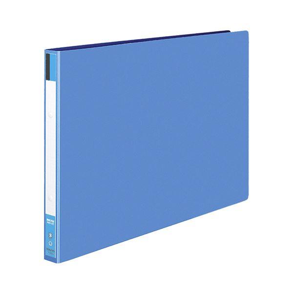 コクヨ リングファイル 色厚板紙表紙A3ヨコ 2穴 170枚収容 背幅30mm 青 フ-423NB 1セット(10冊)