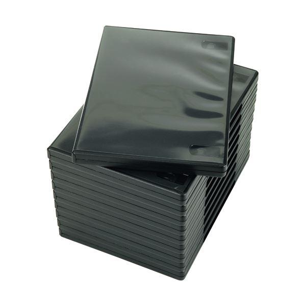 (まとめ) ナガセテクノサービス CD/DVD M-ロックケース ブラック FD1001TLB10 1パック(10枚) 【×10セット】