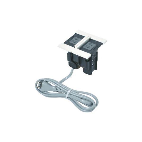 配線孔(取付加工穴径80mm)などと簡単に付け替えができます。 (まとめ)スガツネ工業デスクトップマルチタップDMS型(210-020-496) DMS-PP-WT 1個【×3セット】