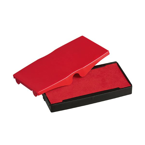 (まとめ) シャイニー スタンプ内蔵型角型印S-854専用パッド 赤 S-854-7R 1個 【×50セット】