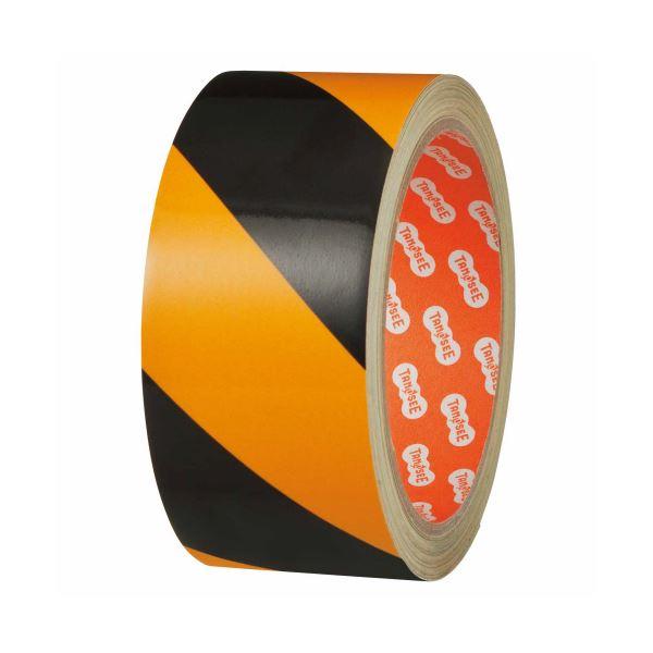 (まとめ) TANOSEE 危険表示反射テープ 45mm×10m 1巻 【×5セット】