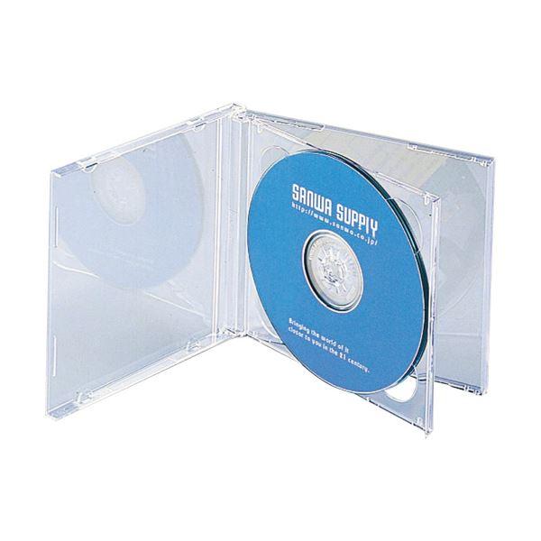 (まとめ) サンワサプライ DVD・CDケース 10mm厚 2枚収納 クリア FCD-22CN 1パック(5枚) 【×10セット】