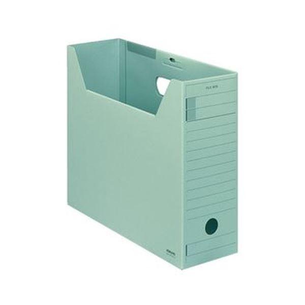 (まとめ)コクヨ ファイルボックス-FS(Fタイプ)A4ヨコ 背幅102mm 緑 フタ付 A4-LFFN-g 1セット(5冊)【×5セット】