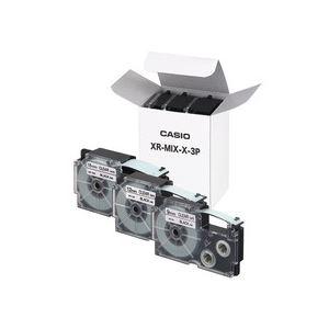 カシオ(CASIO) ネームランドテープセット 透明(黒文字) 9・12・18mm幅 3個入 【×10セット】
