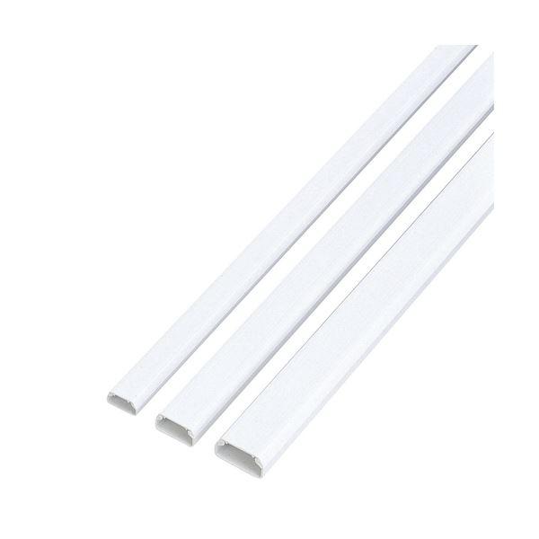 (まとめ) エレコム フラットモール テープ付 幅26mm×長さ1m ホワイト LD-GAF3/WH 1本 【×30セット】