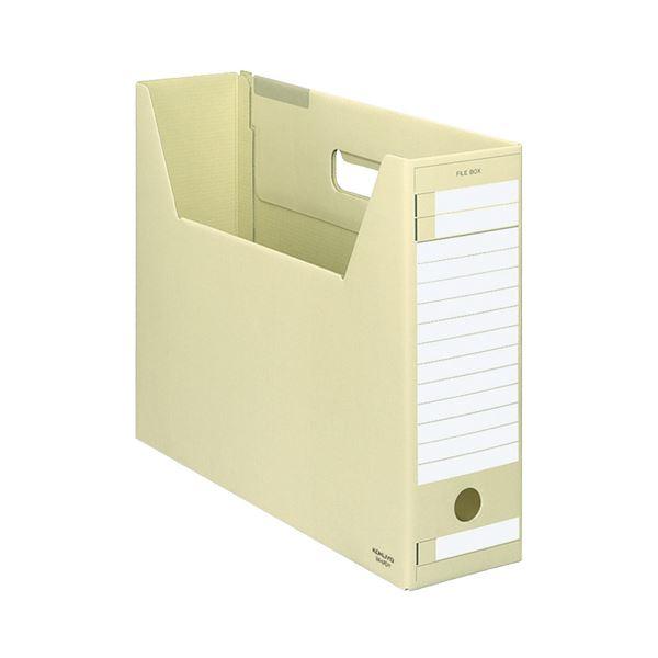 (まとめ) コクヨ ファイルボックス-FS(Dタイプ) B4ヨコ 背幅102mm 黄 B4-LFD-Y 1セット(5冊) 【×10セット】