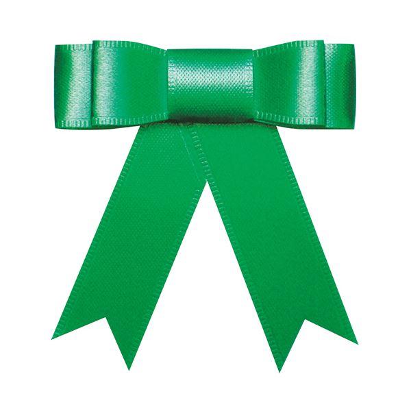 (まとめ) タカ印 プレーンタイリボン 緑 業務用 35-6866 1パック(50個) 【×10セット】