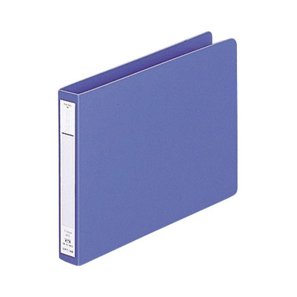 (まとめ) リヒトラブ パンチレスファイル(HEAVY DUTY) A5ヨコ 160枚収容 背幅25mm 藍 F-374-9 1冊 【×30セット】