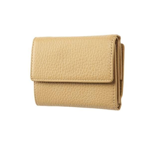 FRUH(フリュー) イタリアンレザー 3つ折り財布 コンパクトウォレット GL032-BE ベージュ