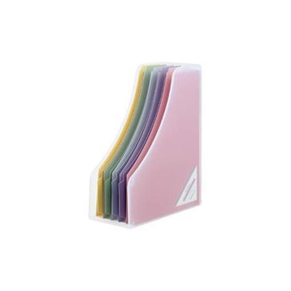 (まとめ)ナカバヤシインデックスファイルボックスF5 A4フリー型 背幅112mm ペーパーファイル5冊付 クリア フボI-F5-C 1個【×10セット】
