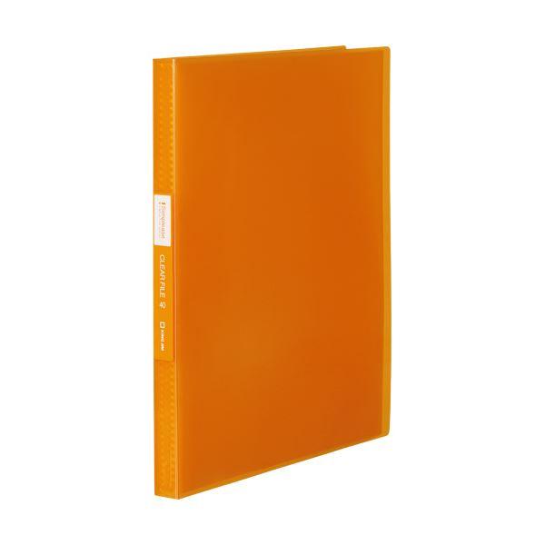 (まとめ) キングジム シンプリーズクリアーファイル(透明) A4タテ 40ポケット 背幅22mm オレンジ TH184TSPWO 1冊 【×30セット】