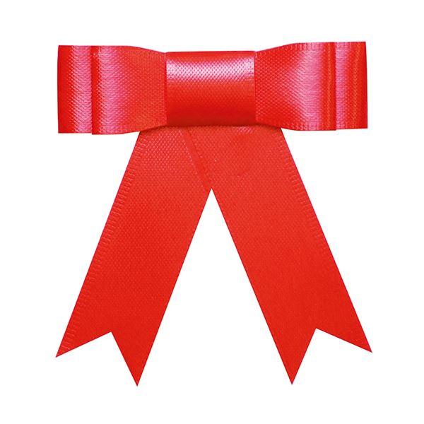 (まとめ) タカ印 プレーンタイリボン 赤 業務用 35-6865 1パック(50個) 【×10セット】